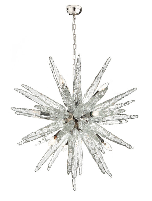 Sputnik Chandelier made with stalactites Murano glass