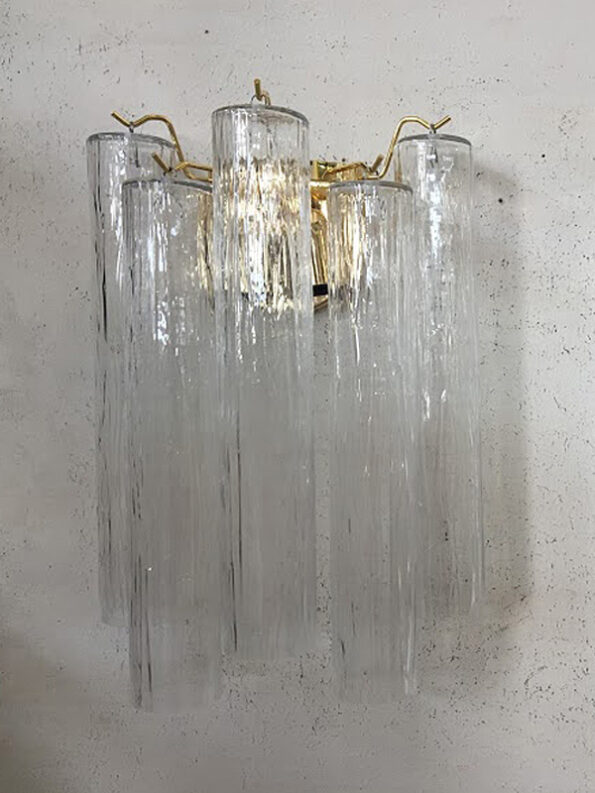 Applique made with transparent cylinders Murano glass